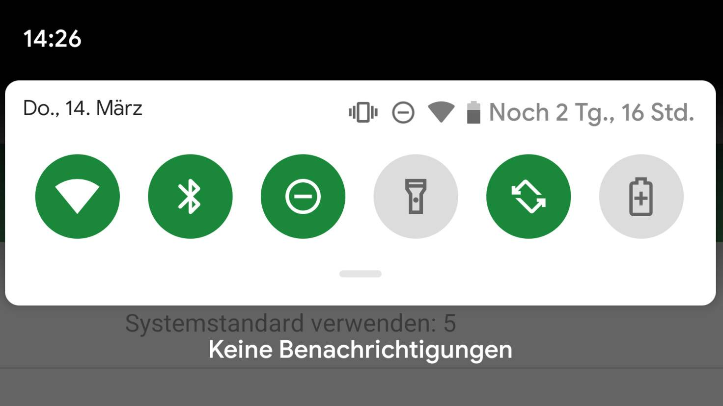 android-q qick-settings-battery