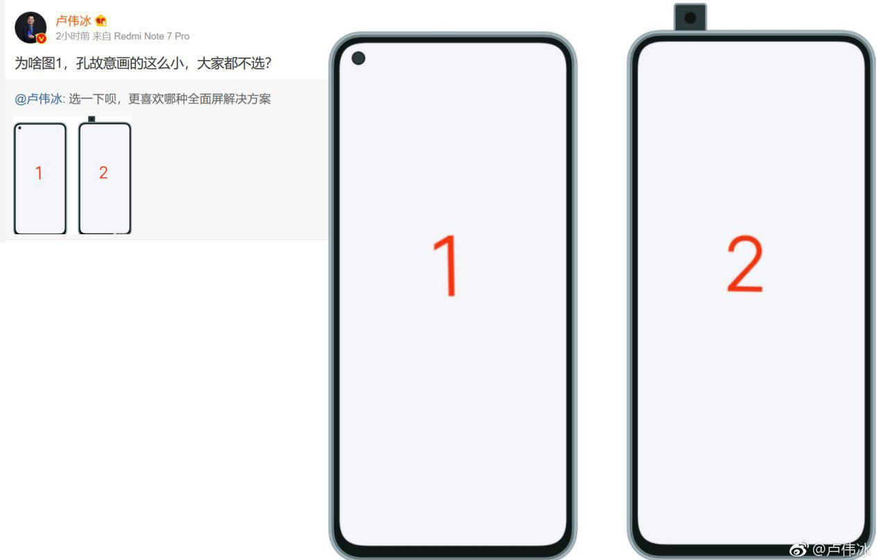 Possible design of the new Redmi flagship, retractable or embedded camera. Xiaomi Addicts News.