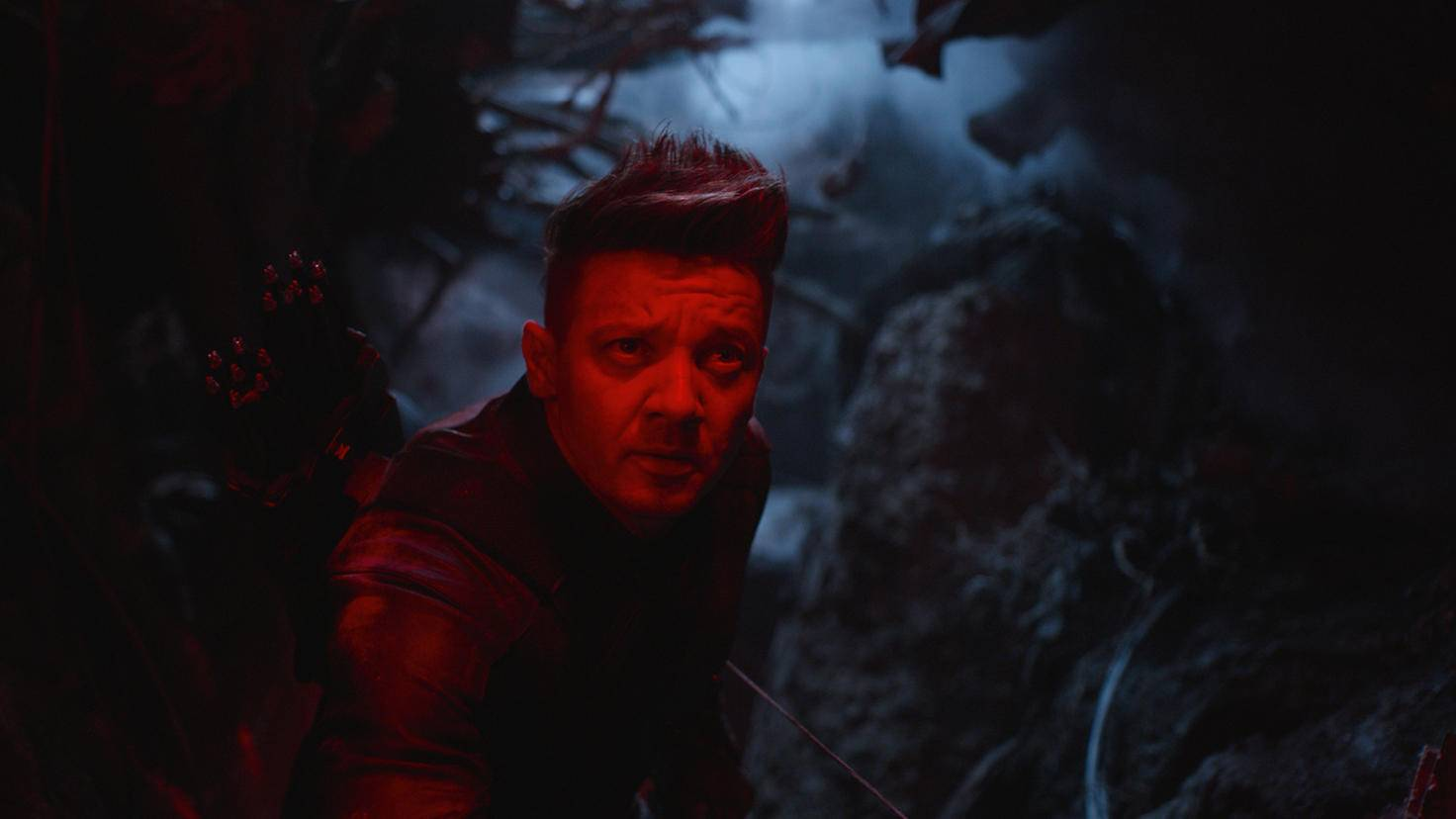 Jeremy Renner as Hawkeye Ronin in Avengers Endgame