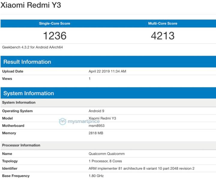Redmi Y3, Redmi S3 features specifications and price. Xiaomi Adictos News