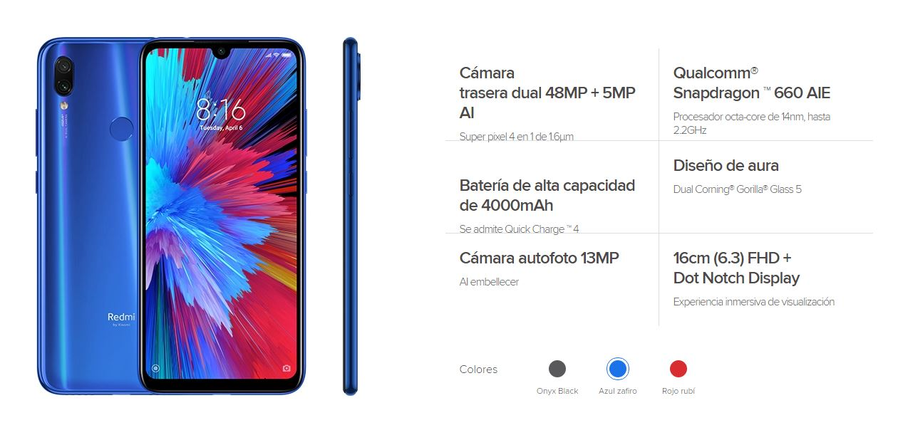 Redmi Note 7S features, specifications and price. Xiaomi Adictos News