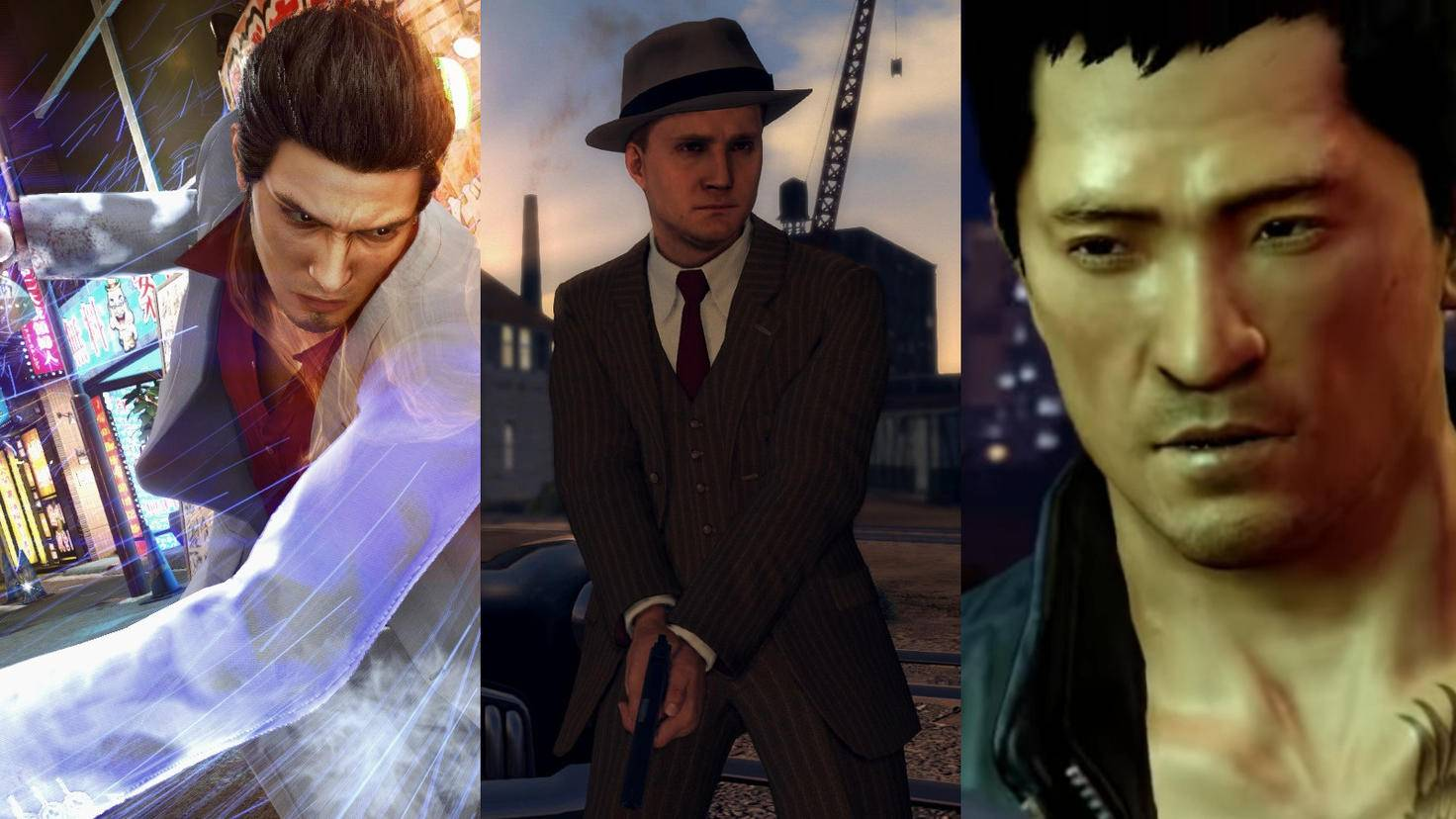 "Alternatives to ""Judgment"": ""Yakuza"", ""L.A. Noire"", ""Sleeping Dogs""."