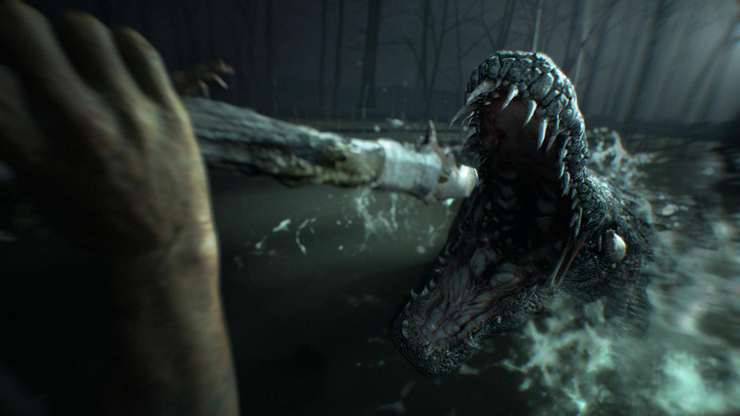 Resident Evil 7 crocodile attack