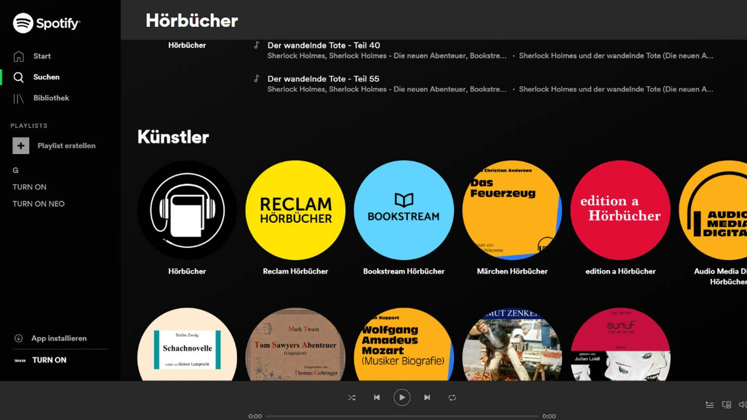 Spotify audio books