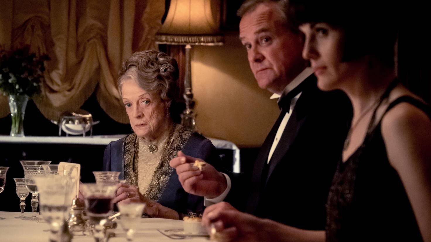 Maggie Smith (left) delivers a brilliant performance as Lady Violet.