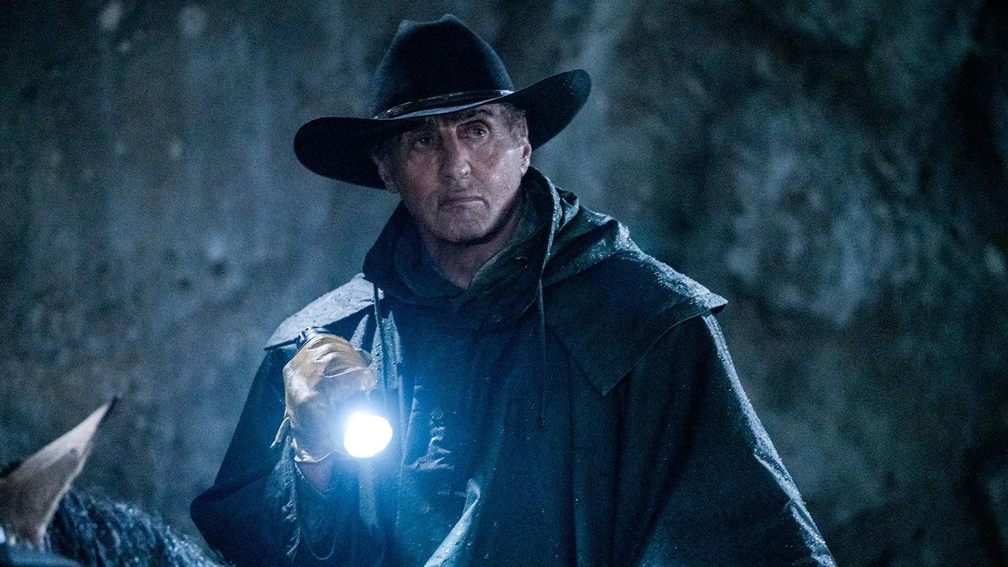 "Sylvester Stallone as John Rambo on horseback in ""Rambo: Last Blood"""