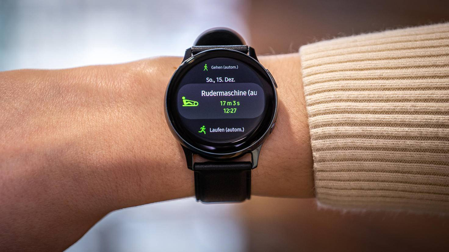 Samsung Galaxy Watch Active 2: workout detection