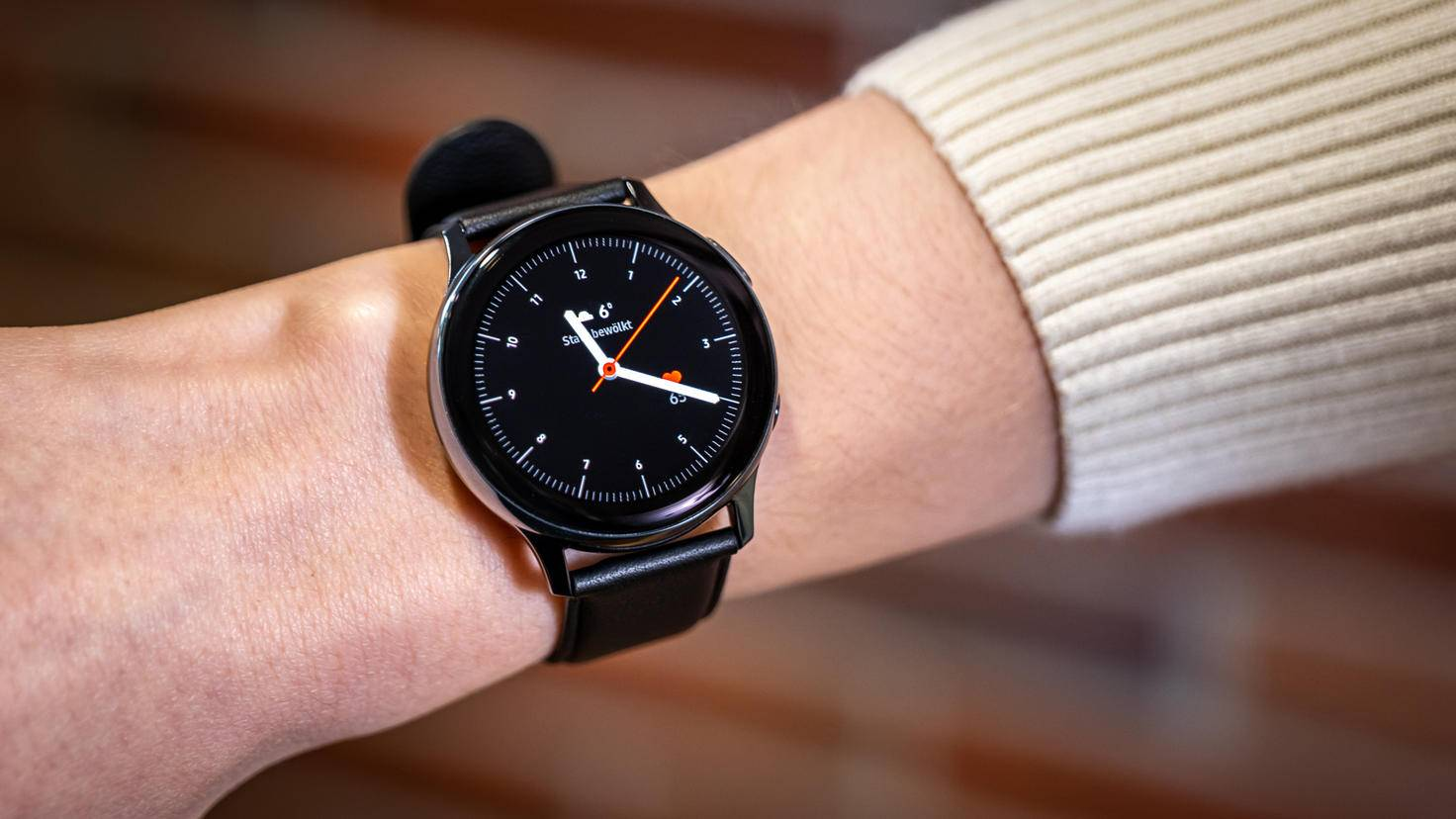 Display of the Samsung Galaxy Watch Active 2