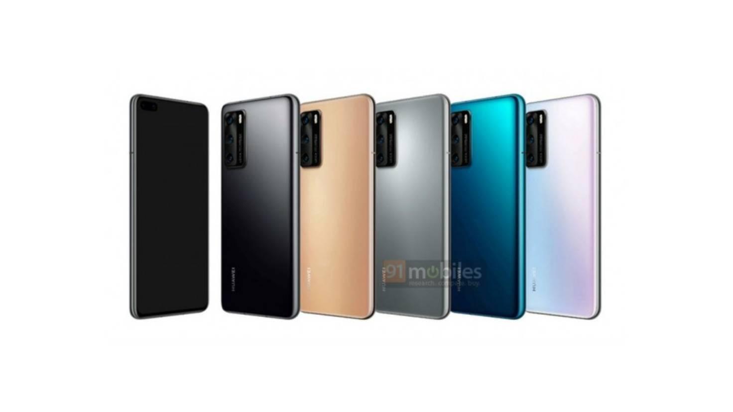 Huawei p40 render images