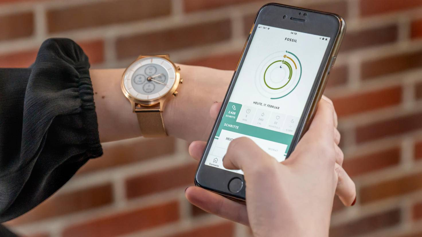 Fossil Hybrid HR with app
