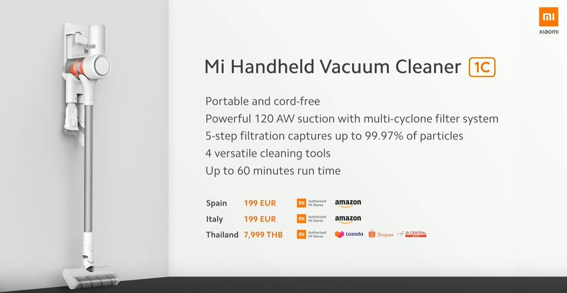 The Xiaomi Mi Handheld Vacuum Cleaner 1C arrives in Spain. Xiaomi Addicts News