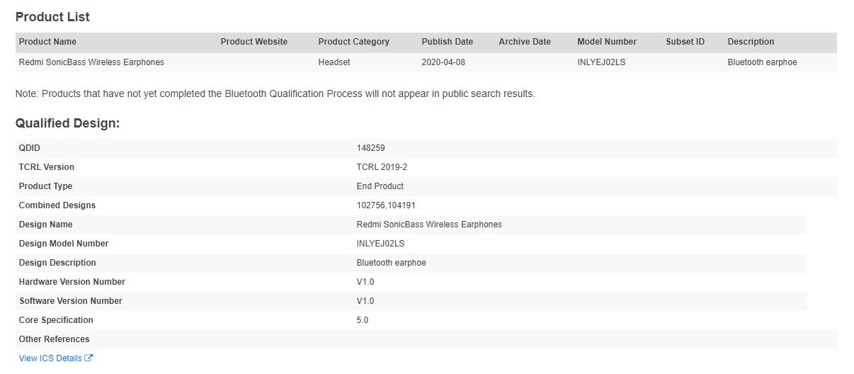 Redmi prepares its new Redmi SonicBass Wireless Earphones. Xiaomi Addicts News