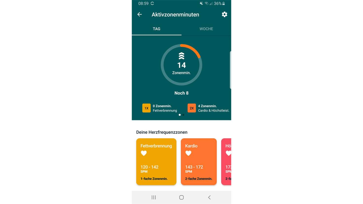 Fitbit Charge 4 activity zone minutes