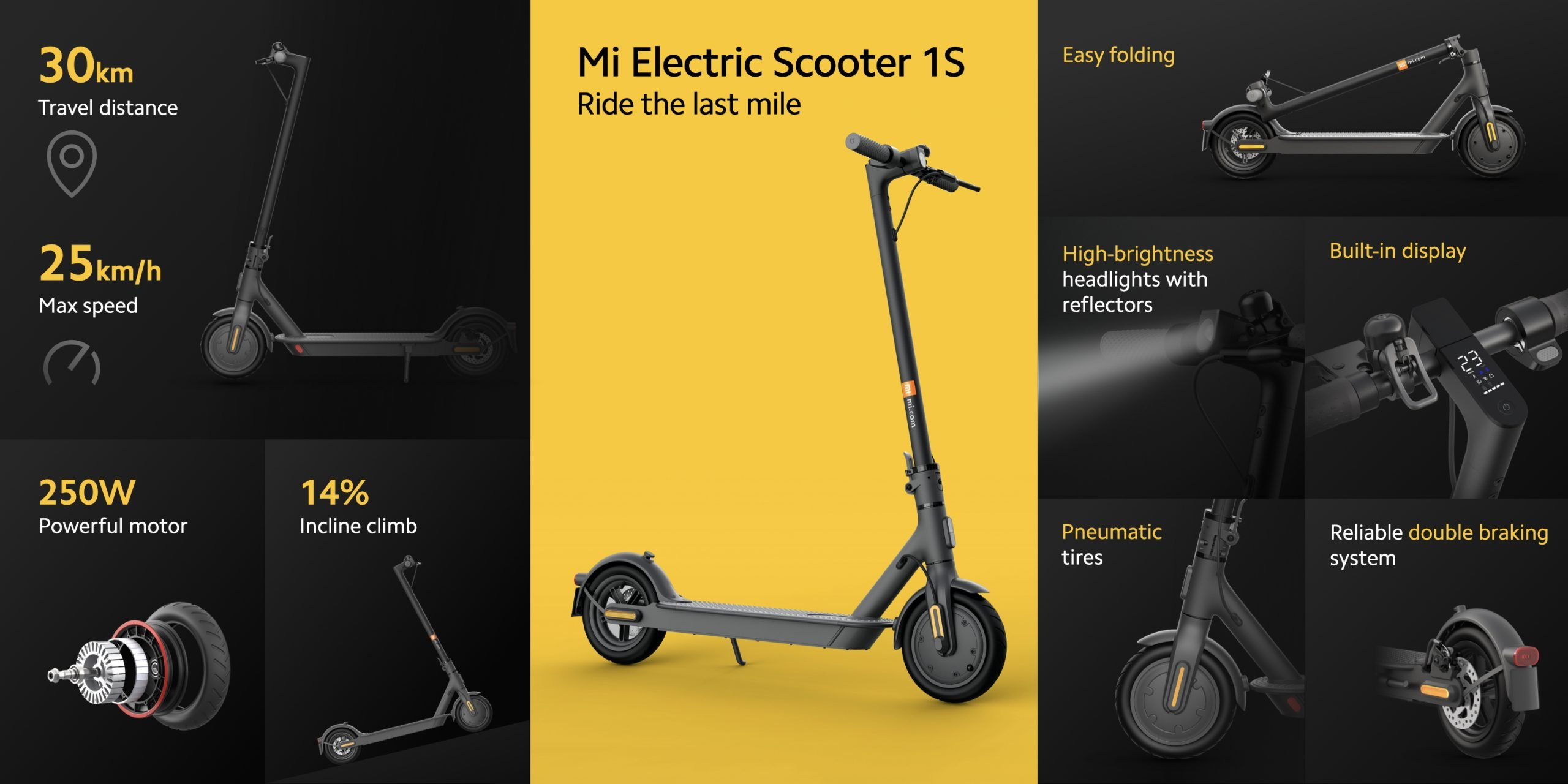Xiaomi Mi Electric Scooter 1S and Mi Electric Scooter 2 Pro: two electric scooters with certain improvements. Xiaomi Addicts News