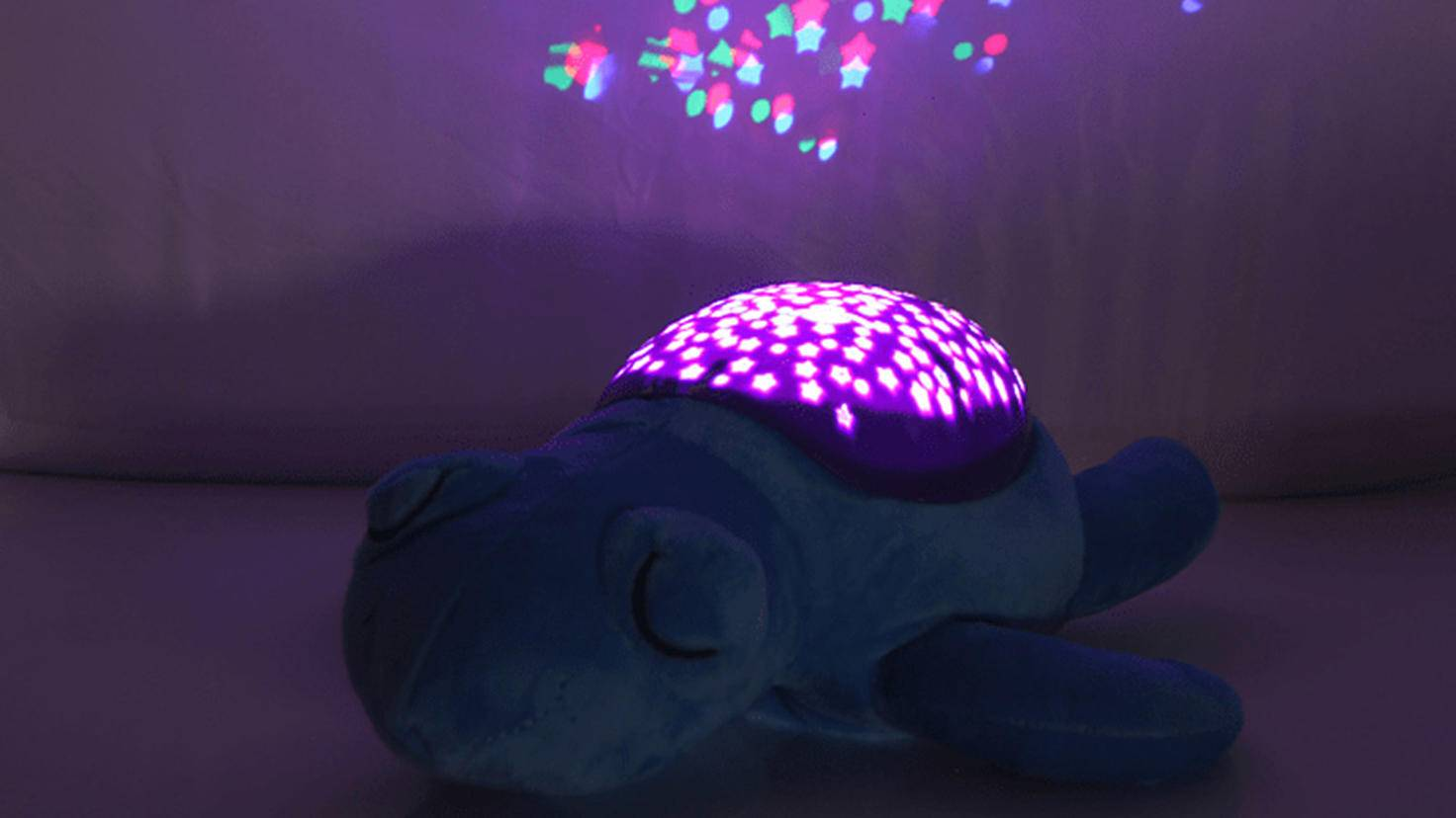Children's night light as a plush toy with a starry sky