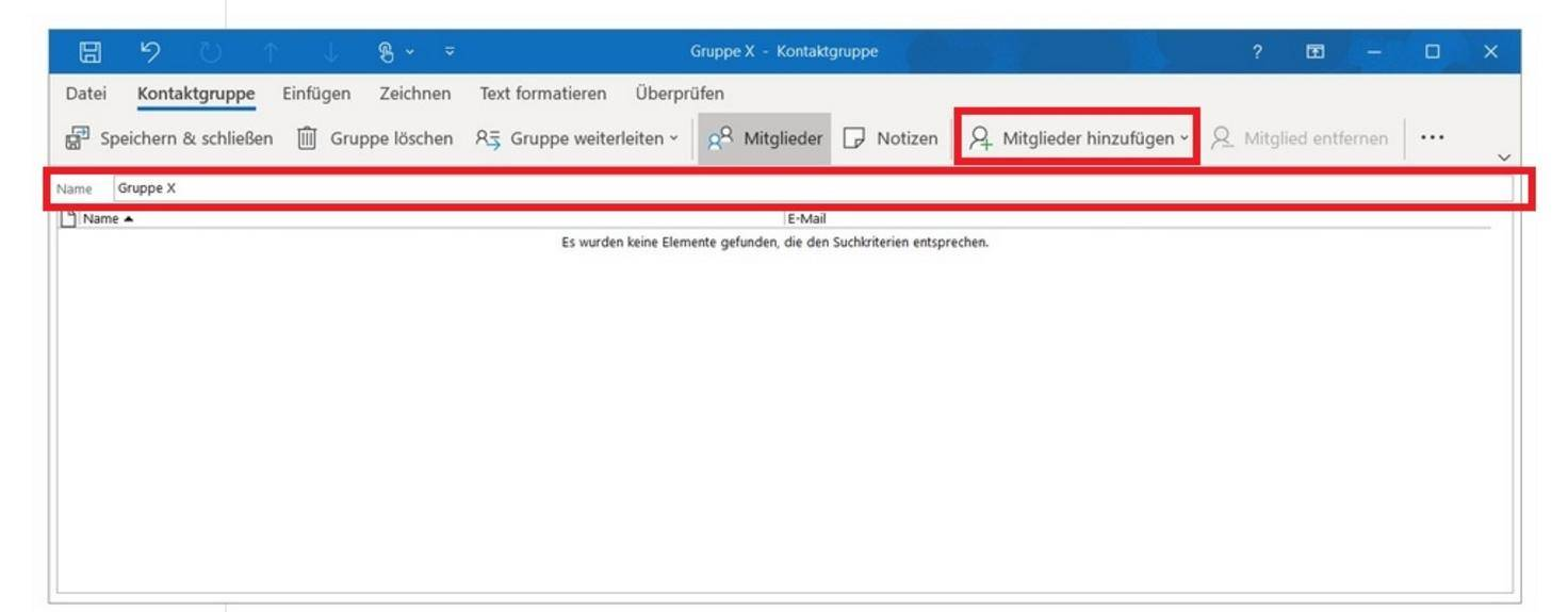 Outlook contact group