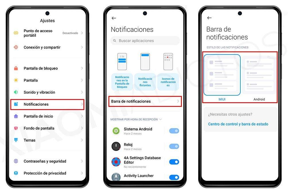 Así puedes cambiar el estilo de las notificaciones de tu Xiaomi. Noticias Xiaomi Adictos