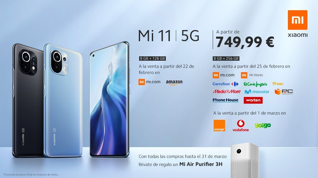 The Xiaomi Mi 11 arrives in Spain and does so with a gift: price and date of sale. News Xiaomi Addicts