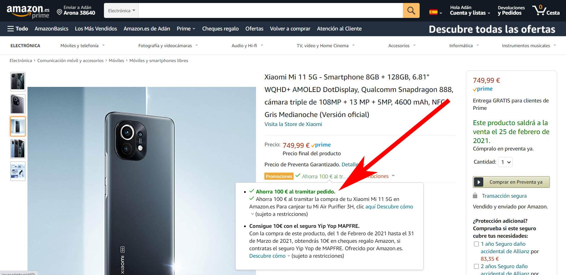 comprar xiaomi mi 11 amazon al mejor precio con descuento y regalo. Noticias Xiaomi Adictos