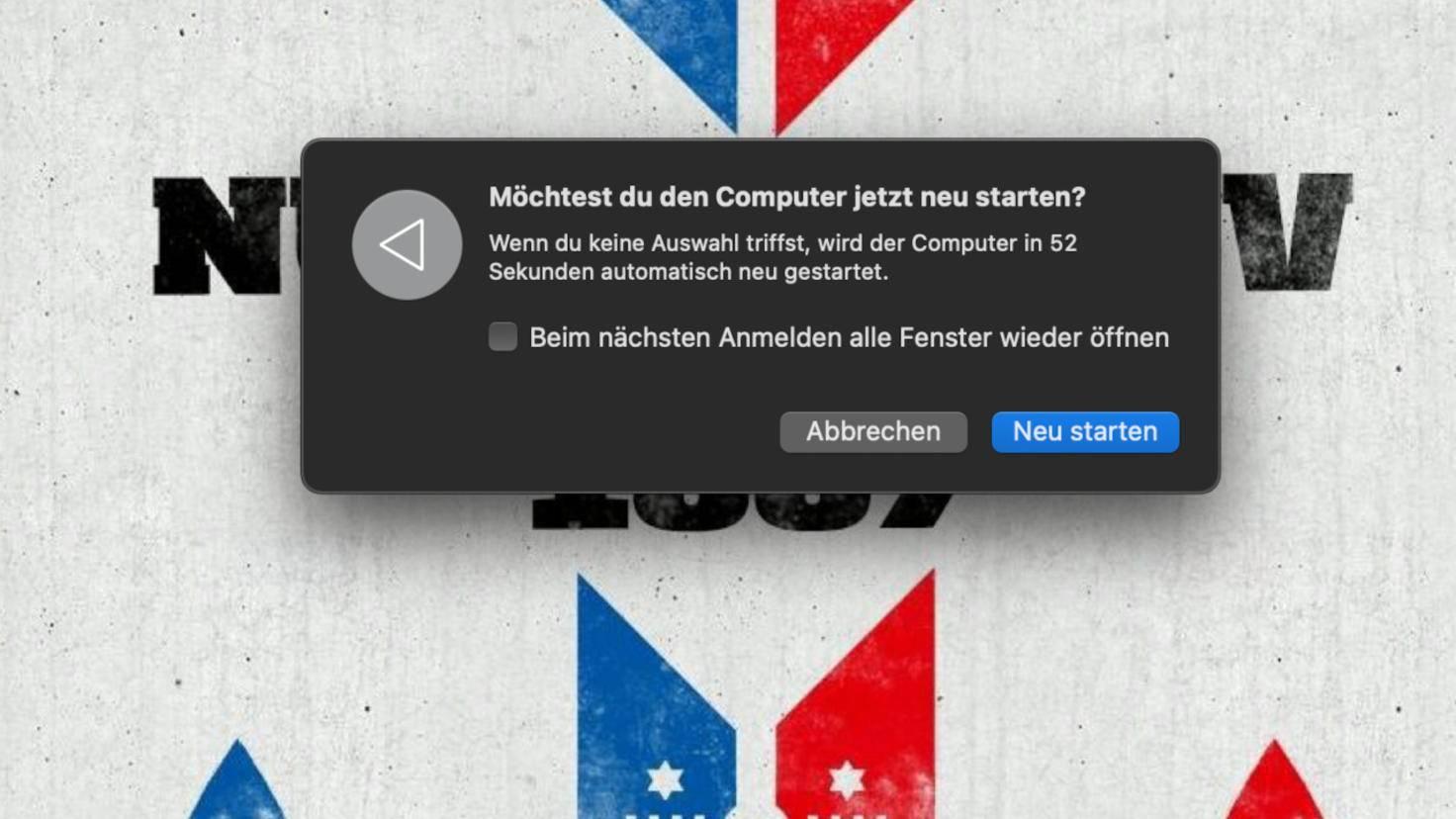 macOS restart