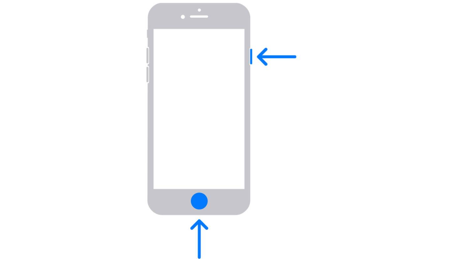 iPhone with home button screenshot