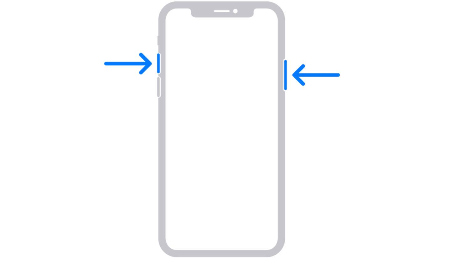 iPhone without home button screenshot