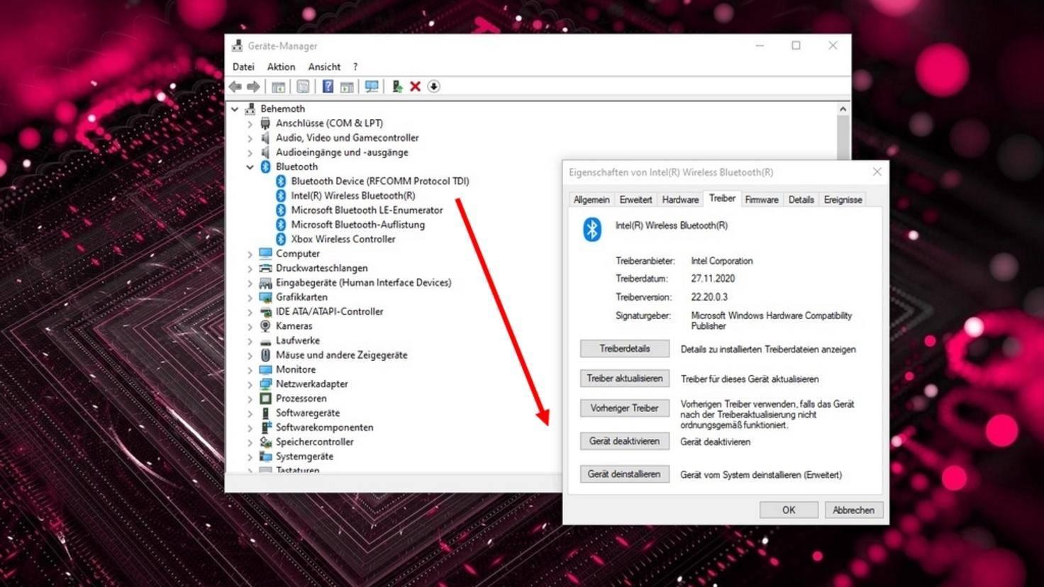 Uninstall Windows 10 driver