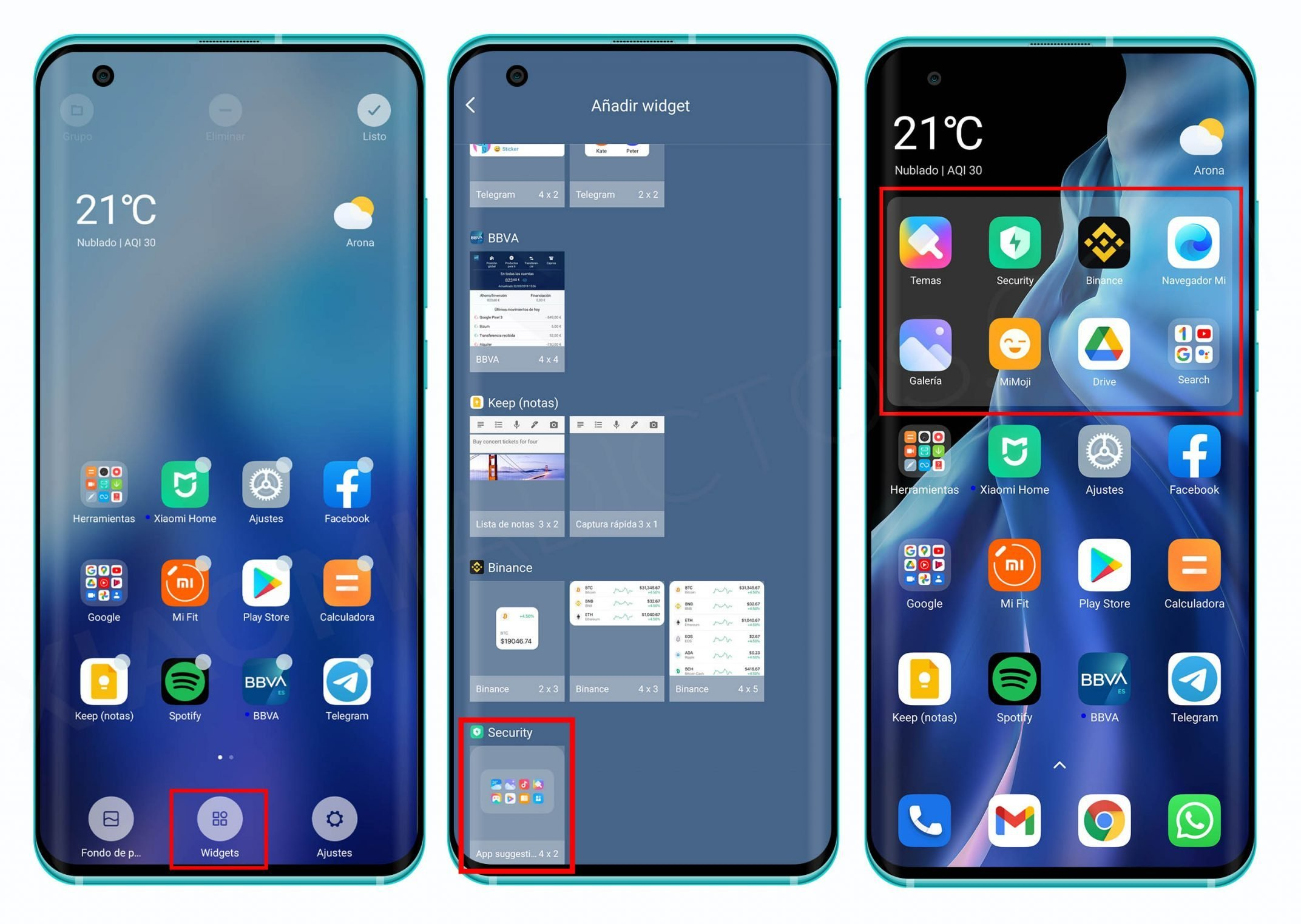 So you can install the new MIUI smart widgets on your Xiaomi. News Xiaomi Addicts