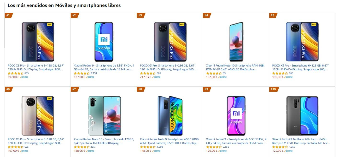El POCO X3 Pro encabeza las ventas de Amazon con ofertas como esta. Noticias Xiaomi Adictos