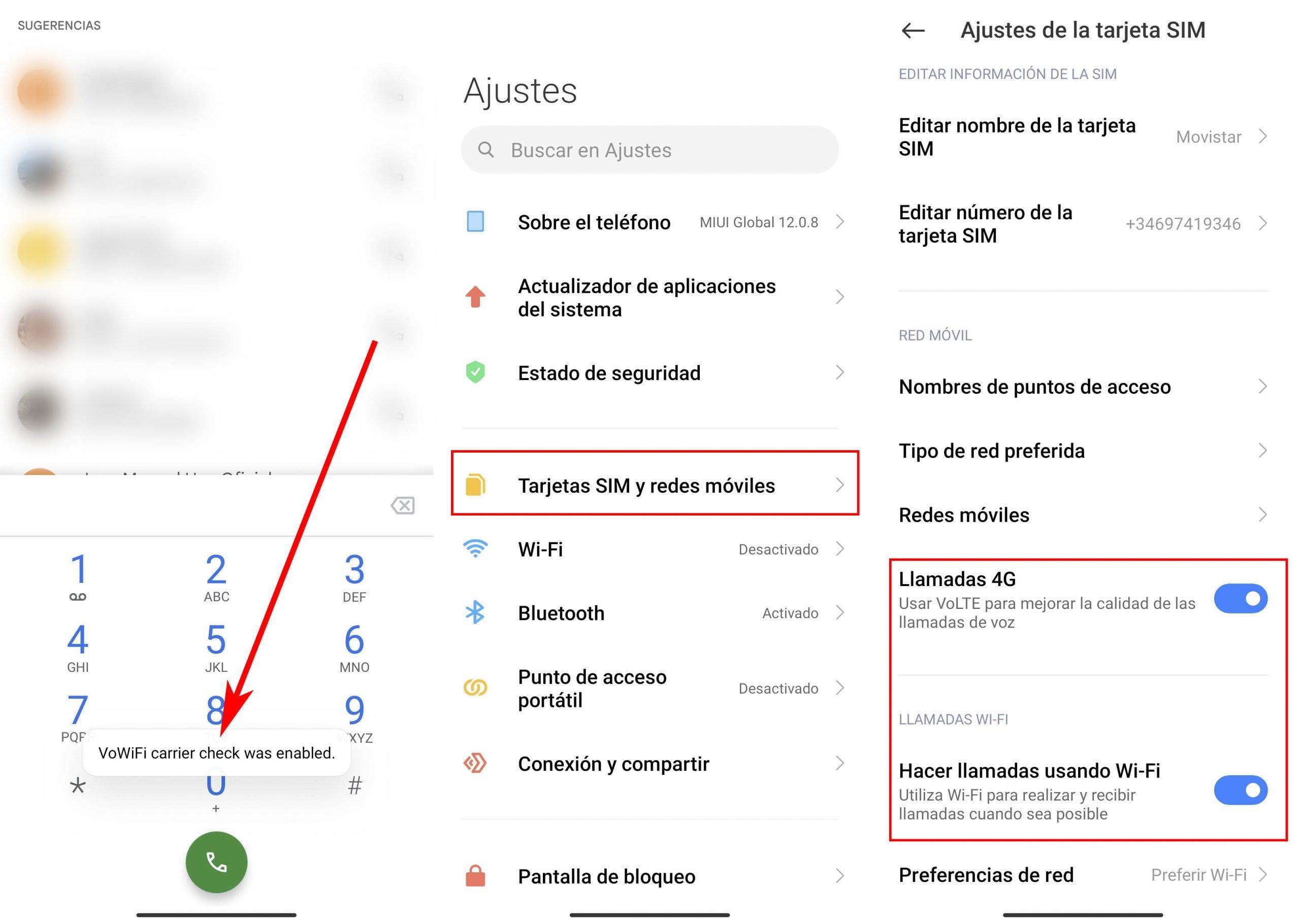 Tan solo necesitas estos dos códigos para activar el VoLTE o VoWiFi en tu Xiaomi. Noticias Xiaomi Adictos