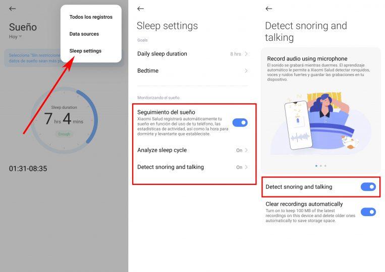 Cómo analizar el sueño o incluso detectar tus ronquidos desde tu Xiaomi. Noticias Xiaomi Adictos