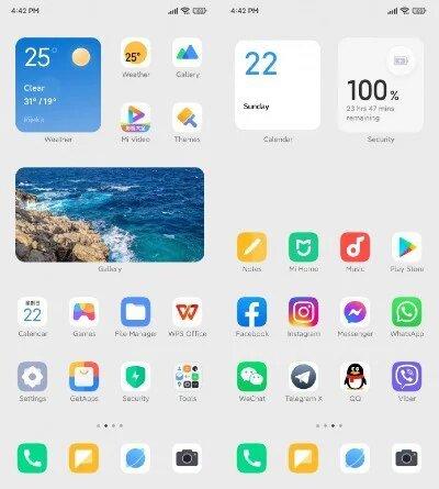 Minimalist MIUI 13 redesign